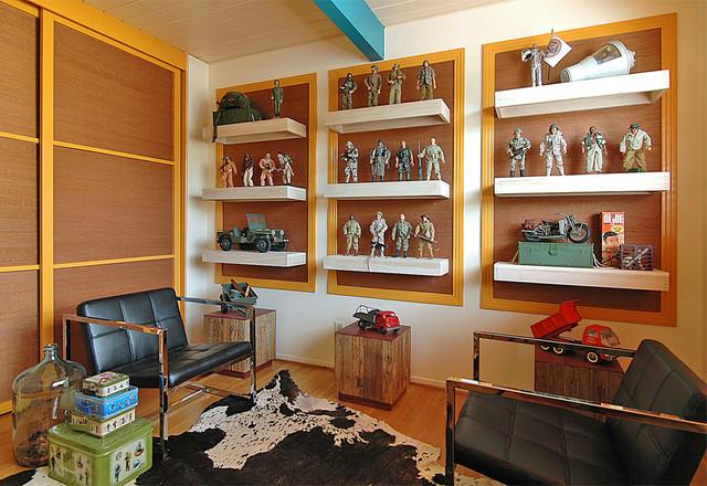 Man Cave Shelves : Orange county man cave contemporary family room