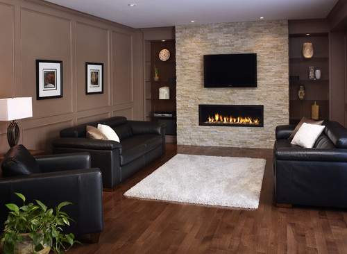 Fireplaces corner or the TV over the fireplace