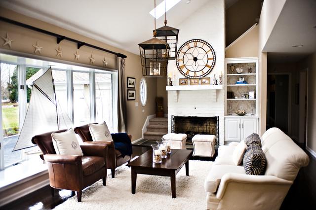 Coastal living room contemporary family room