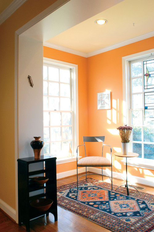 Tangerine Living Room Decor: Contemporary Family Room · More Info