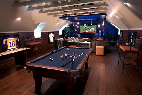 Contemporary Family Room by Alamo Interior Designers & Decorators J. Hettinger Interiors