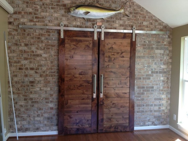 Ultramodern Barn Door Hardware Contemporary Family Room Salt