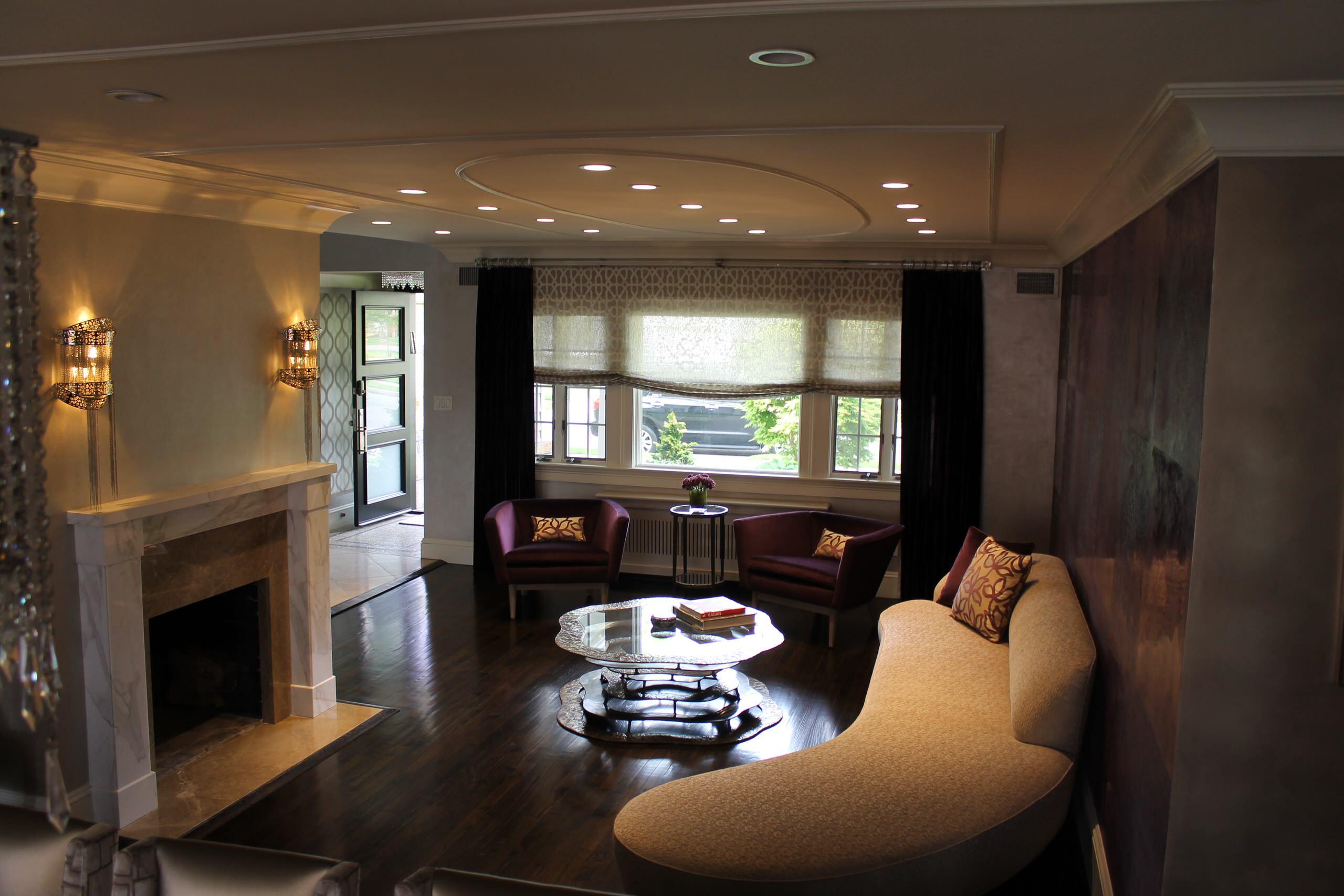 Contemporary Family room Woodmere, NY Home