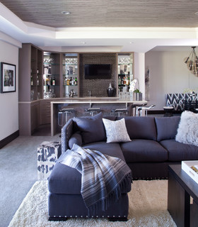 Contemporary Haven - Contemporary - Family Room - Denver - by Ashley Campbell Interior Design