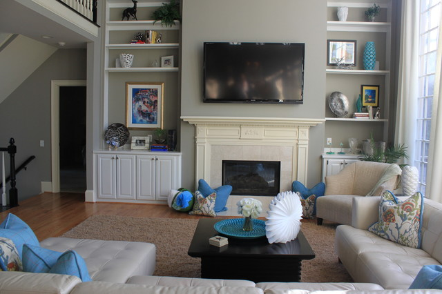 Contemporary home with a beachy feel contemporary-family-room