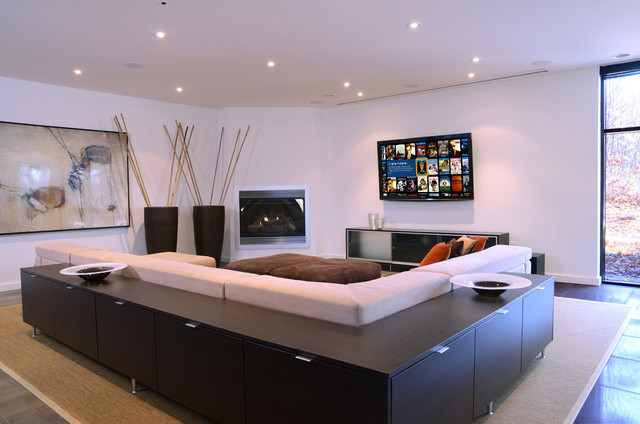 Contemporary Home with Smart Technology contemporary-family-room