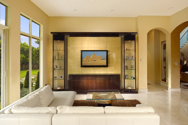 Contemporary Intracoastal Home contemporary-family-room