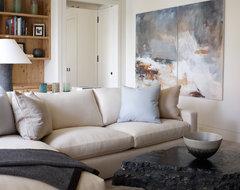 Contemporary Lake House contemporary-family-room