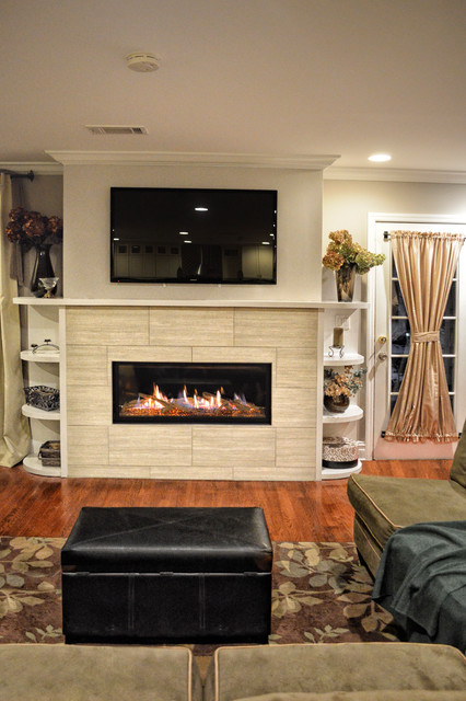 Contemporary Linear Fireplace