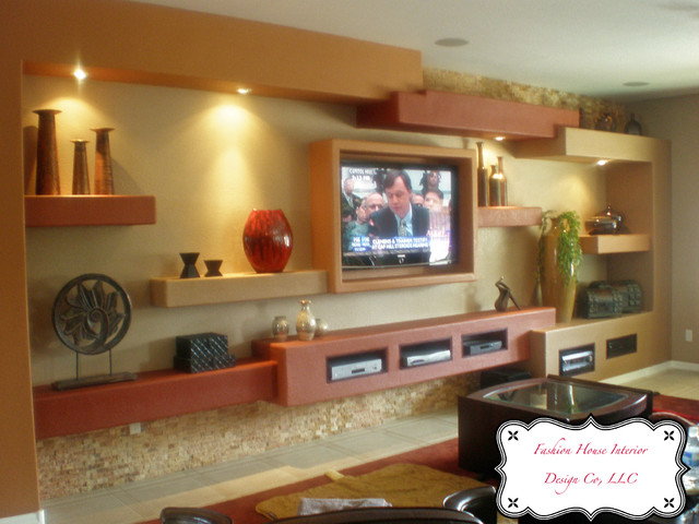 Contemporary Sedona Neutrals Cannings, Chandler, AZ  ~ 050456_Christmas Decorating Ideas Entertainment Center