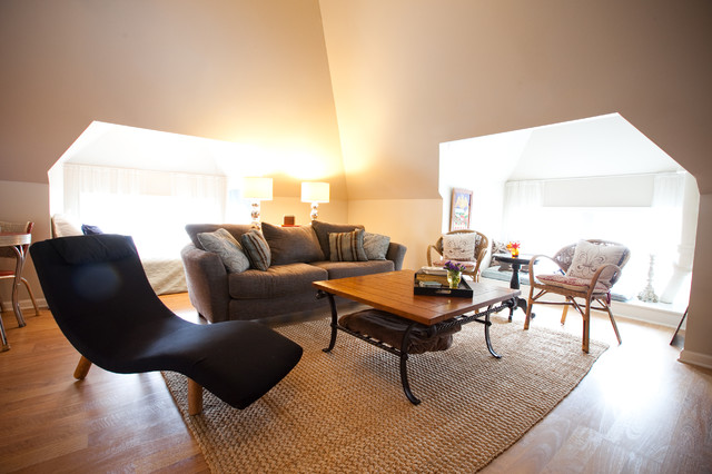 converted attic traditional-family-room