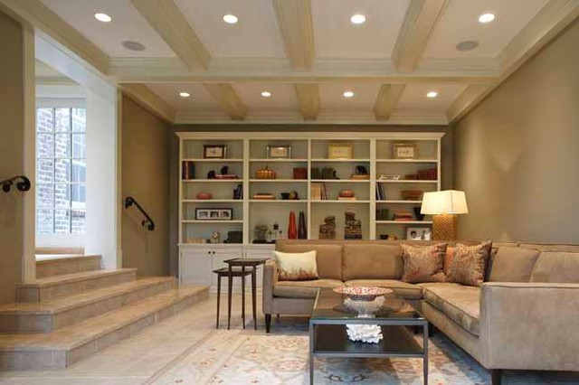 Charming Converted Garage In Tricky Zone Contemporary Family And Games Room