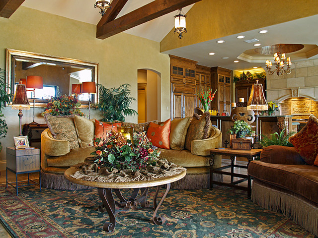 Cordillera Ranch - Tuscan Hill Country Home mediterranean-family-room