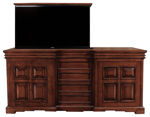 cordova designer tv lift cabinet furniture hidden tv by