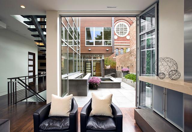 Cortland Residence modern-family-room