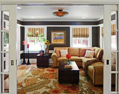 Country Chic Family and Media Room traditional family room