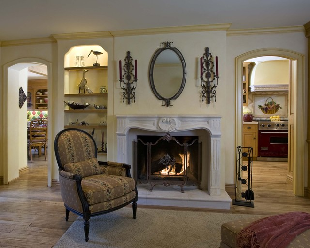 Country French Family Room - Robert Naik Photography traditional family room