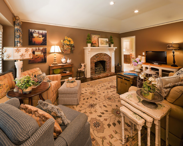 Country French Living Traditional Family Room Kansas City by