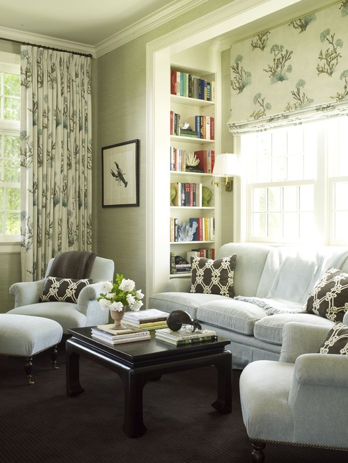 I Love How These People Utilized This Nook In Front Of The Window And Placed Their Sofa There Like Simplicity Roman Shades
