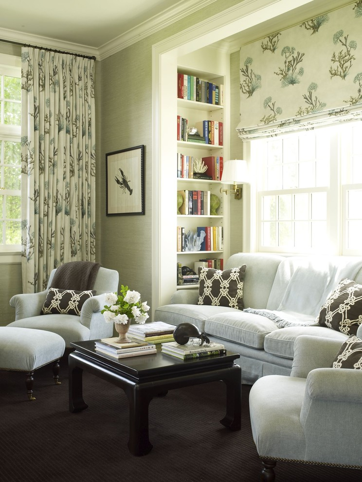 Inspiration for a timeless family room remodel in New York