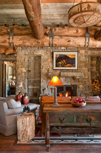 Cozy Family Room rustic-family-room