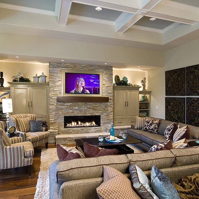 Cozy greatroom traditional family room portland by for Cozy family room designs