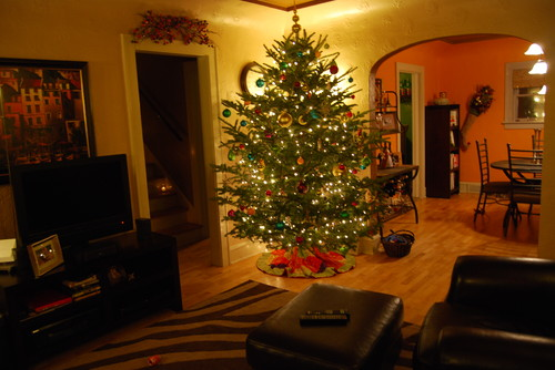 Cozy Wisconsin Christmas Family Room