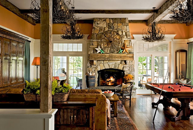 Crisp Architects farmhouse family room