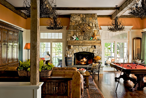 Crisp Architects traditional family room