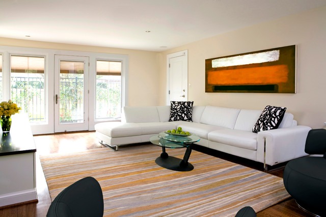 Crisp in Chevy Chase contemporary-family-room