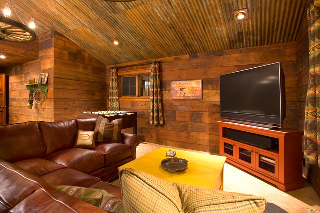 Crosswater Ski Lodge Rustic Family Room Portland By Scott Gilbride Ar