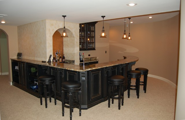 Curved Basement Bar-The next Level traditional-family-room