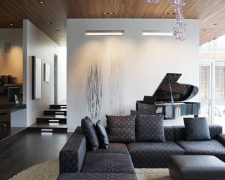 Curved House contemporary-family-room