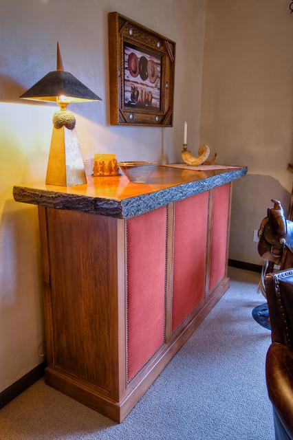 Custom bar cabinet family-room