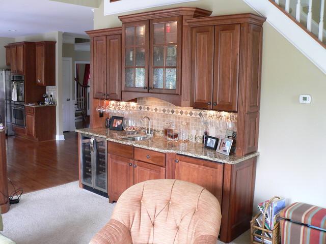 Custom Bar Designs traditional-family-room