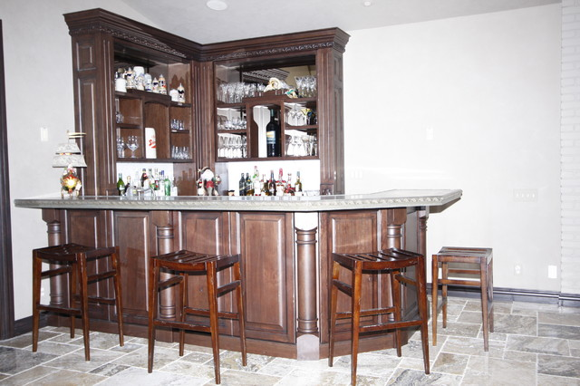 Odle-Custom Bar with Zinc traditional-family-room