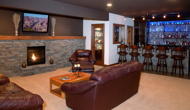 Custom Built Home eclectic-family-room
