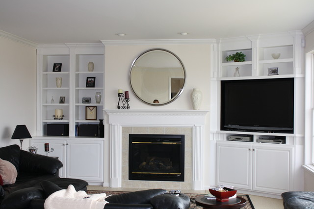 Custom Built-In Bookcases traditional family room