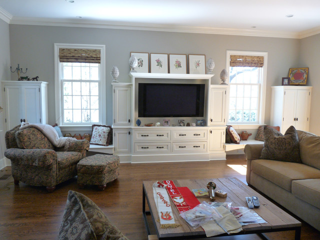 Custom Builtin Media Center Traditional Family Room New - Built in media center designs