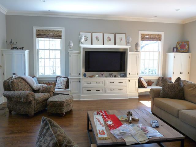 Custom Built-in Media Center - Traditional - Family Room ...
