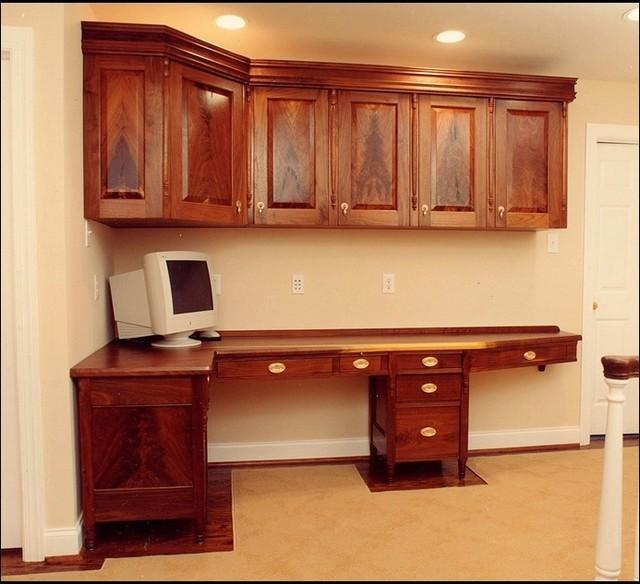 Custom Built-In Office Desk - Traditional - Family Room ...