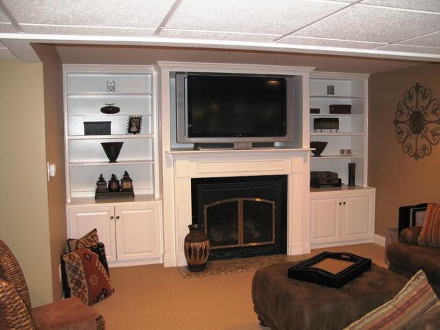 Custom Built Ins Traditional Family Room