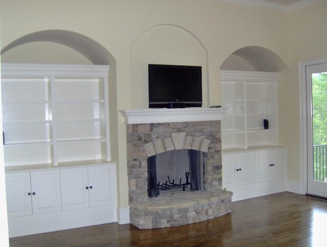 Custom Built Wall Units traditional-family-room