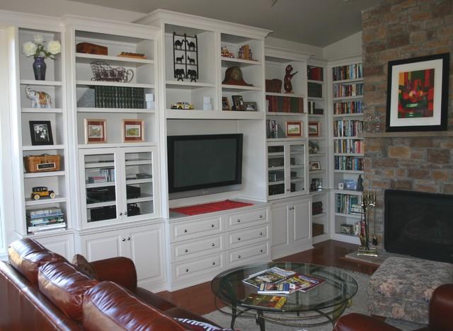 Custom Cabinets - Entertainment Center - Media TV Center - Traditional ...