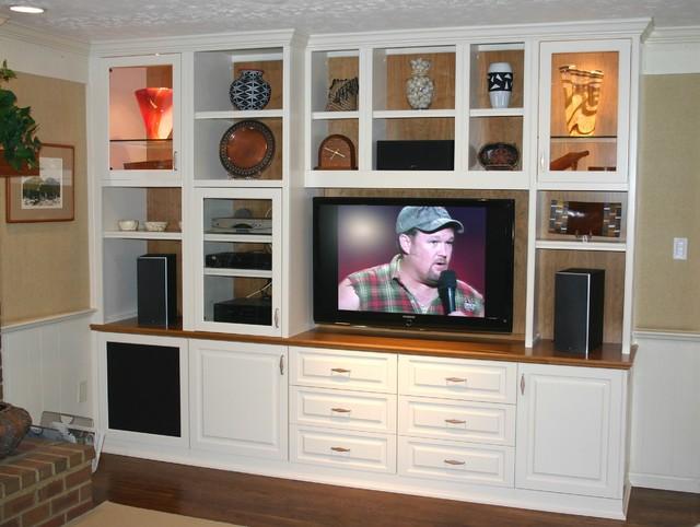 Custom Cabinets Entertainment Center Media Tv Center Traditional Family Room Dc Metro