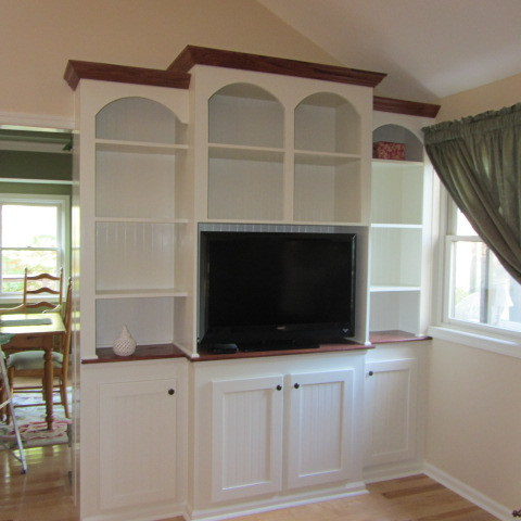 Custom Entertainment Unit traditional-family-room