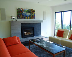 custom fireplace contemporary-family-room