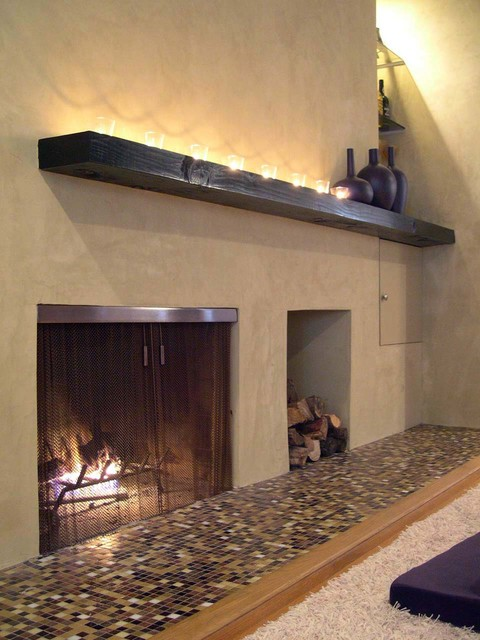 Custom Fireplace Screen Contemporary Family Room