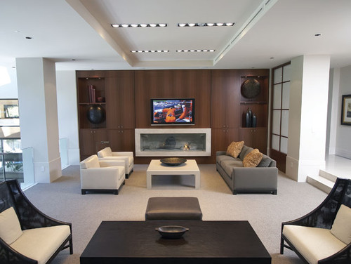Custom Home Cinema contemporary media room