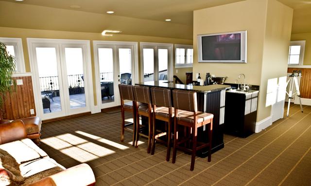 Custom Home traditional-family-room